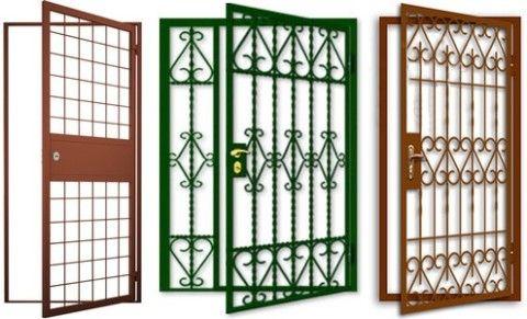 Виды решетчатых дверей