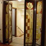 Витражная дверь-гармошка
