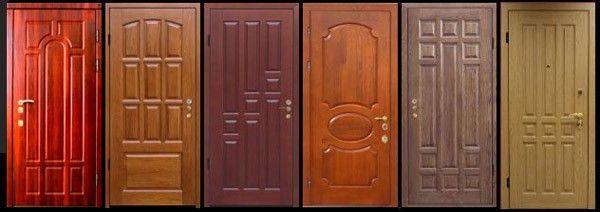 Применение панелей МДФ в отделке двери