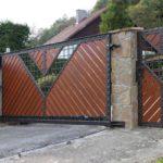 Ворота из металла и дерева