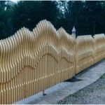 Ворота способные украсить приусадебный участок