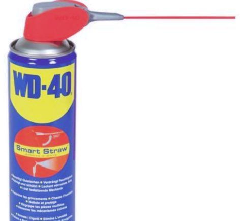 WD40 пригодится не только для смазки навесов, но и в других хозяйственных нуждах
