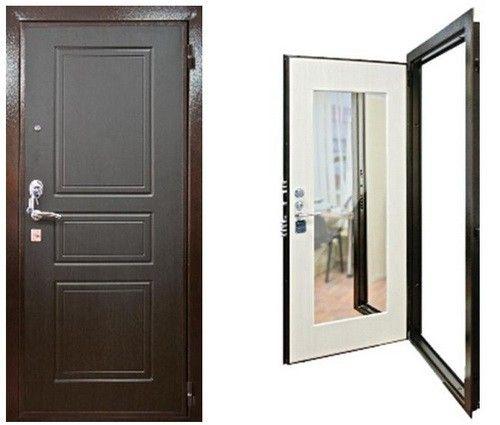 напротив входной двери зеркало