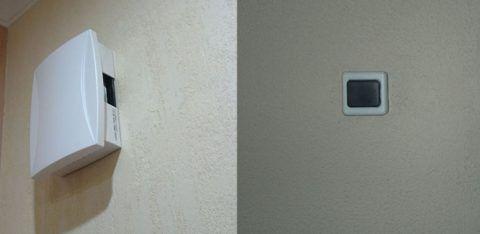 Звонки состоят из кнопки снаружи, и блока, издающего сигнал, внутри